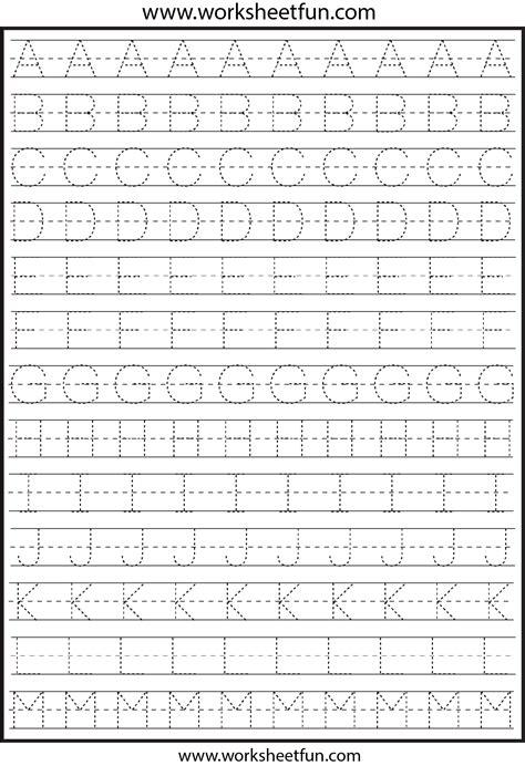 letter tracing  worksheets  printable worksheets