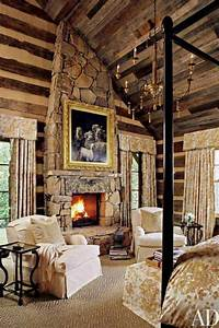 56 Extraordinary Rustic Log Home Bedrooms Style Estate