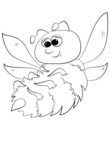 Cute Cartoon Bumblebee coloring page Free Printable