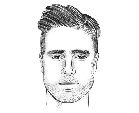hairstyles for men according to face shape mens hair
