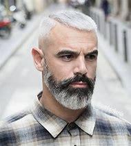 Grey Black Men Beard Styles