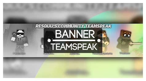 banner template de ts3 teamspeak banner gif resquu speedart youtube