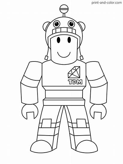 Coloring Roblox Pages Character Colorare Da Printable