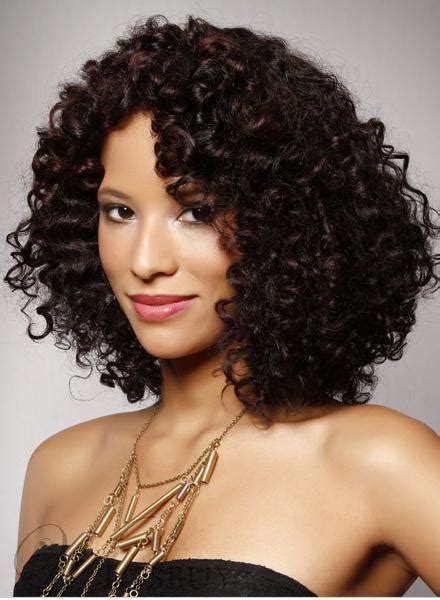 new arrival top quality american hairstyle medium small curly lace wig 100 human hair