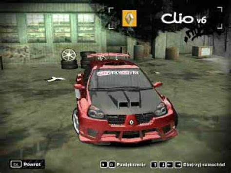renault clio v6 nfs carbon need for speed most wanted my renault clio v6 youtube
