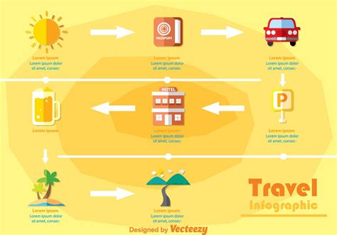 travel infography vectors   vector art