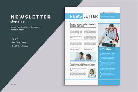 Business Newsletter Template  Brochure Templates