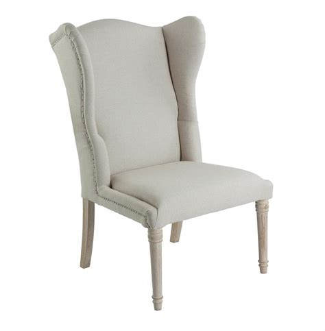 eli country wing back occasional chair light linen