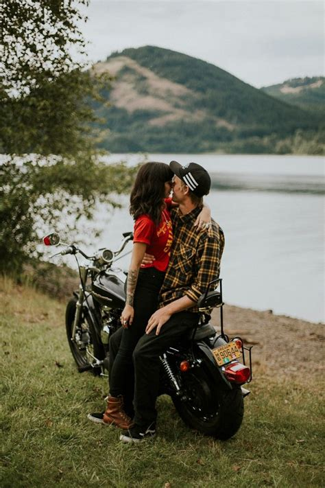 edgy oregon couple   motorcycle   spin