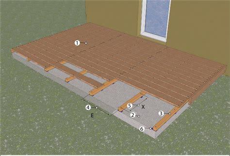 terrasse en bois sur dalle beton poser une terrasse en bois sur lambourdes terrasse bois