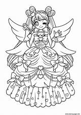 Glitter Coloring Force Pages Anime Cute Printable Sheets Shojo Fairy Books Heart Princess Print Wolf Angels Popular Blank Halloween sketch template