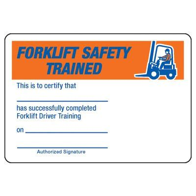 printable forklift certification cards printable cards