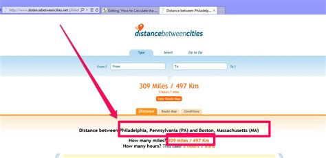 calculate distance cities steps