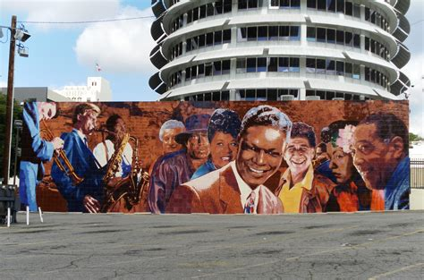 ucla alums mural honoring hollywood jazz artists restored