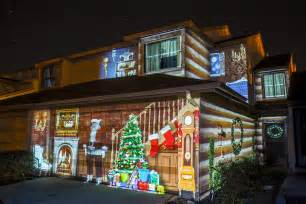 Christmas Lights Projector On House