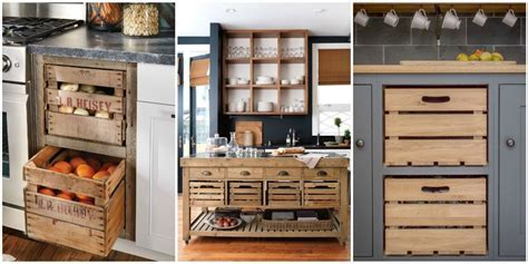 15  Wooden Crates In Kitchen: A Brilliant Idea To Add
