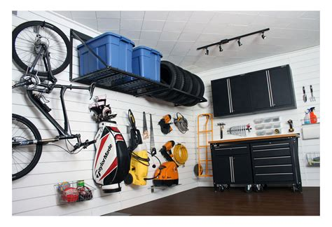 Garage Wall Systems by Proslat 88105 Heavy Duty Pvc Slatwall Garage Organizer 8