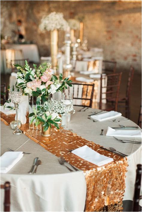 love this gold sequin table runner super glam Sydney