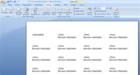 add template to word adding label templates to word 2007 granitestateartsmarket