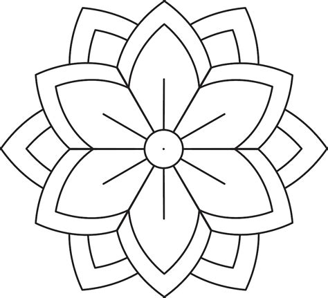 simple flower mandala coloring pages  printables