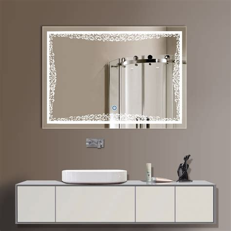 24 Bathroom Mirror by 32 X 24 In Horizontal Led Bathroom Silvered Mirror With