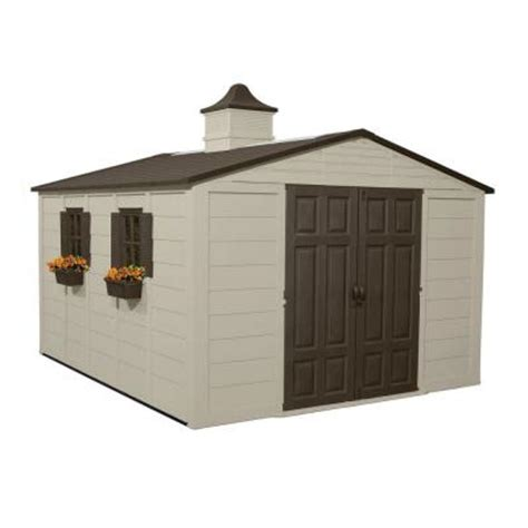 home depot suncast shed suncast 12 ft 8 in x 10 ft 5 in resin storage shed
