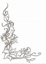 Border Corner Sketch Floral Flower Template Borders Deviantart Templates Coloring Drawing Drawings Sketches Adult Simple Decorative Flowers Stencil Frames Patterns sketch template