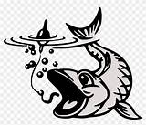 Fish Coloring Koi Hook Vector Collection Clipart sketch template