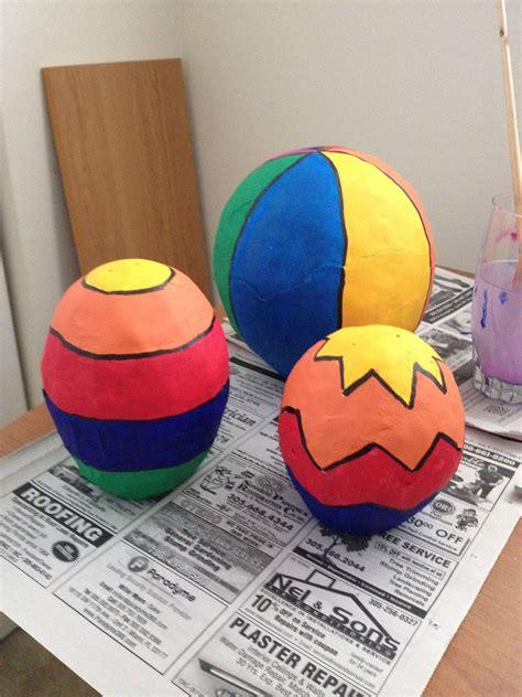 paper mache hot air ballons love    hot