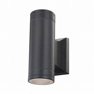 glo32028 2 gantar outdoor wall light black gu10 double With outdoor wall lights dublin