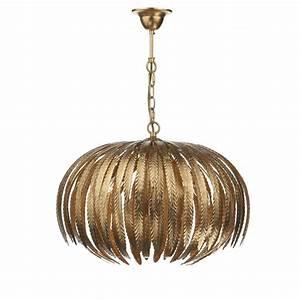 Dar lighting atticus light gold leaf ceiling pendant in