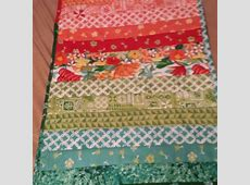 Quilt as you go table runner Quiltsbyme
