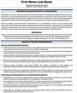 top administrative resume templates samples With business administration resume sample