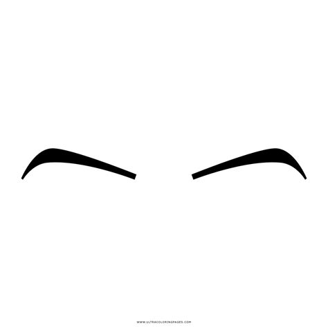 eyebrows coloring page ultra coloring pages