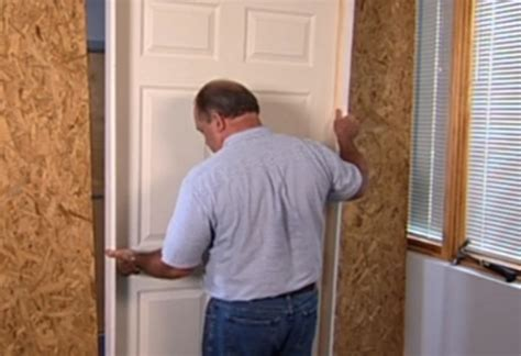 installing a prehung door how to install interior door at the home depot