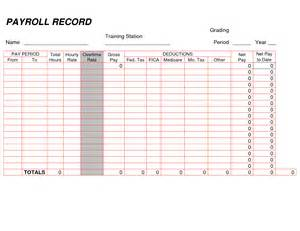 payroll ledger sample printable payroll ledger blank payroll record pdf