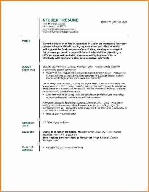 10 resume exles college students invoice