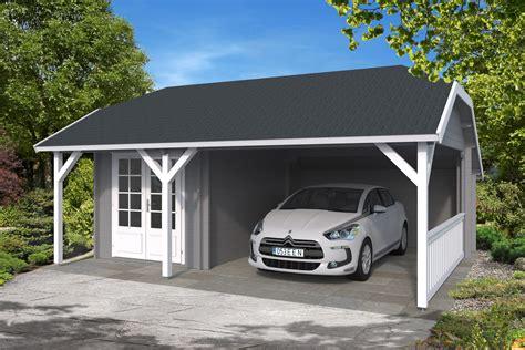 Moderne 30 M2 Carport M Skur  Super Kvalitet Og Med