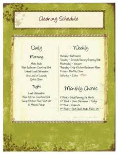 Free House Cleaning Schedule