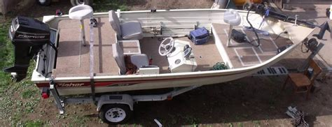Fisher Marine Boats by 1987 Fisher 17 Bass Boat 40 Hp Sold Free