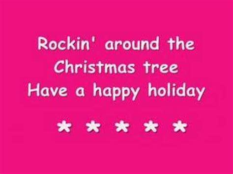 rockin around the christmas tree youtube