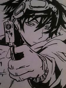 Anime guy with a gun by DawnAngle on DeviantArt
