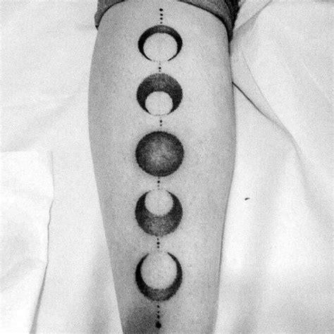 moon phases tattoo designs  men illuminated ideas