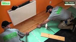 Pokladka plovoucí podlahy na lino
