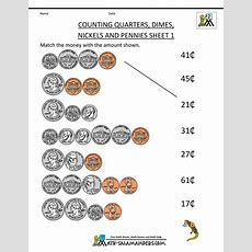 Free Money Worksheets Counting Quarters Dimes Nickels And Pennies 1  Thema Engeland Pinterest