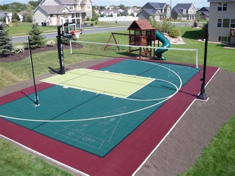 backyard sport court ideas 25 best ideas about backyard sports on pinterest outdoor basketball court backyard