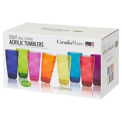 plastic drinking glasses   pc  oz multi colored