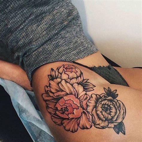 flower thigh tattoos ideas  pinterest peony flower tattoos  arm tattoos