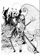 Jack and Sally by JaoRamos on DeviantArt  Jack And Sally Coloring Pages