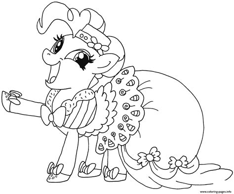 happy pinkie pie   pony coloring pages printable